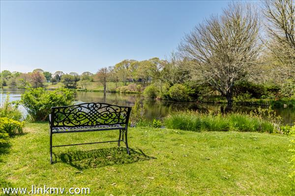 Back yard overlooking Looks Pond. A perfect spot for contemplation.