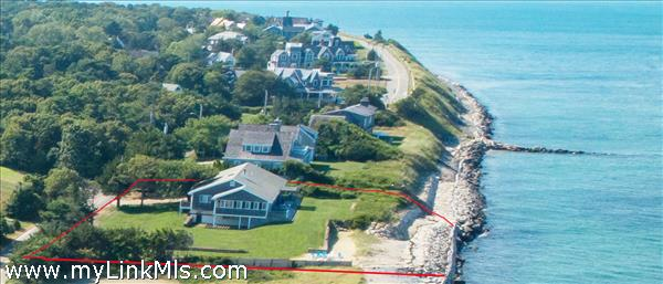 Nearly one acre of protected direct ocean front on Nantucket Sound.