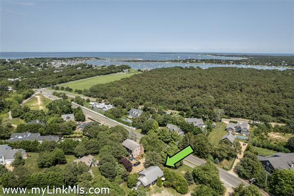 Drone view to Edgartown Harbor