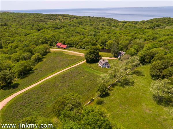 James Cagney's historic Chilmark farm with water view