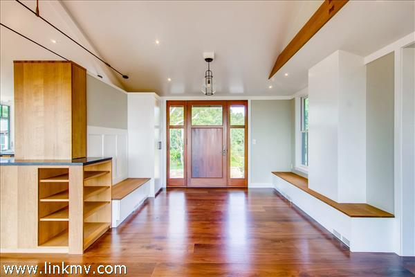 Entry with local, custom doors, built-ins and cabinets