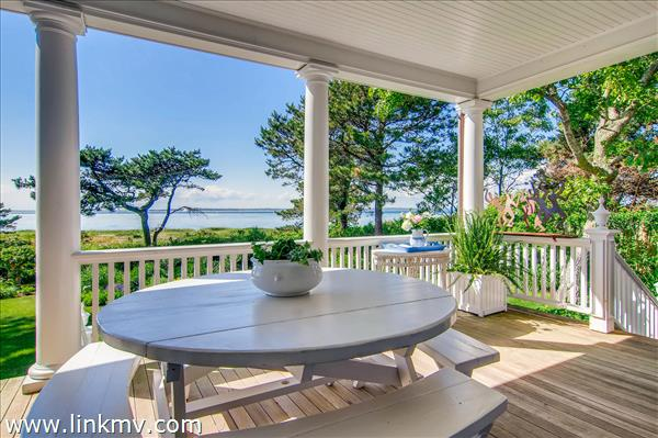 The expansive porch is perfect for entertaining