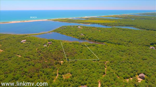 Aerial View of 6 Swan Neck Road Lot