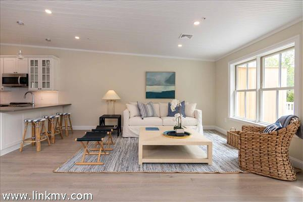 Example of Open Living Area with Vaulted Ceilings