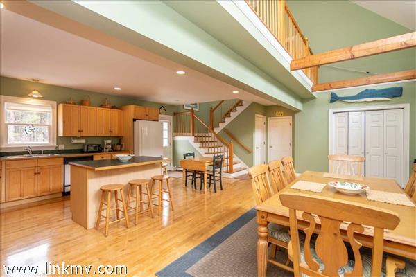 Second Floor Balcony Overlooks Dining and Kitchen
