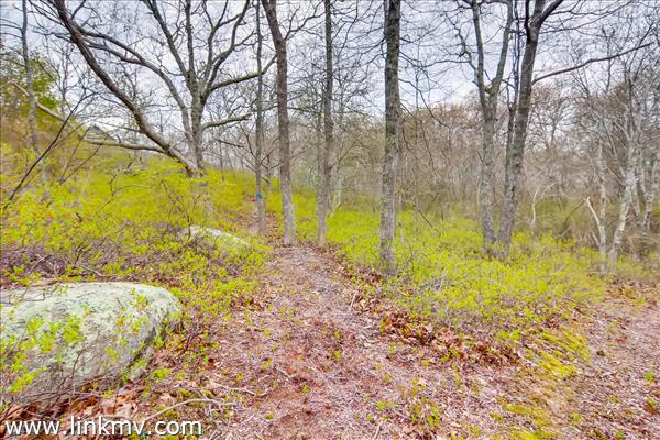 Chilmark boulders and pathways