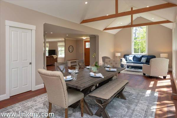 Great Room Has Vaulted Ceilings