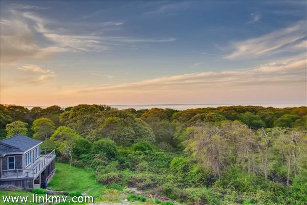 on 2.9 private acres in Aquinnah.