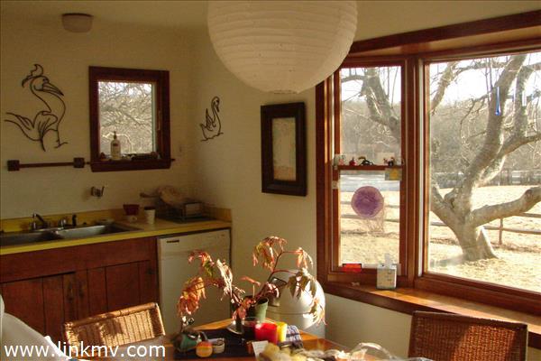 Kitchen View to Pond