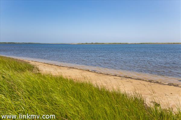 Sandy shores of Edgartown Great Pond