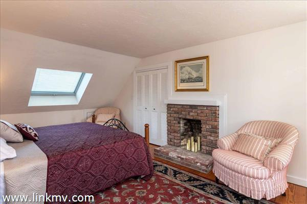 Master Bedroom Has Brick Wood Burning Fireplace - Second Floor
