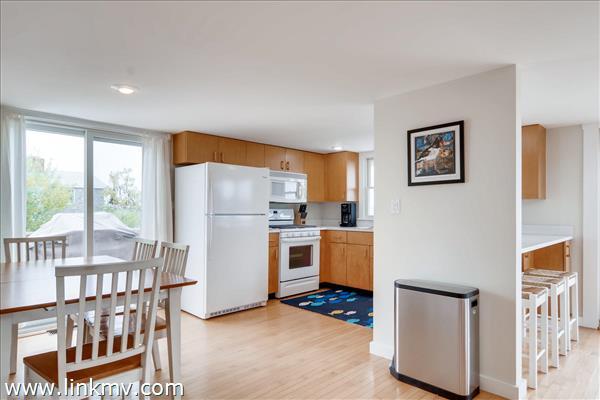 Bright open kitchen.