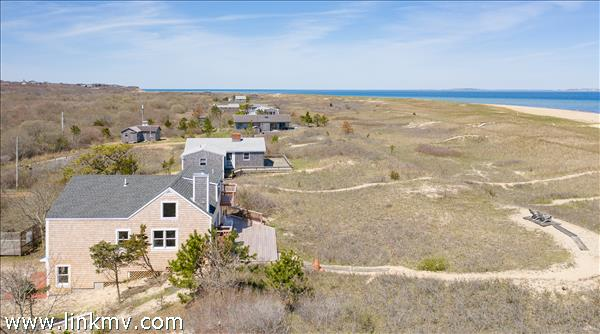 This magical Aquinnah location offers a waterfront location and one of a kind water views.