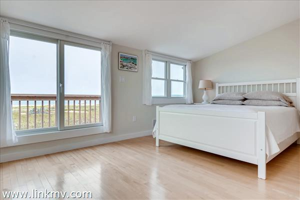 Top floor master bedroom suite with a large closet and gorgeous ocean views!