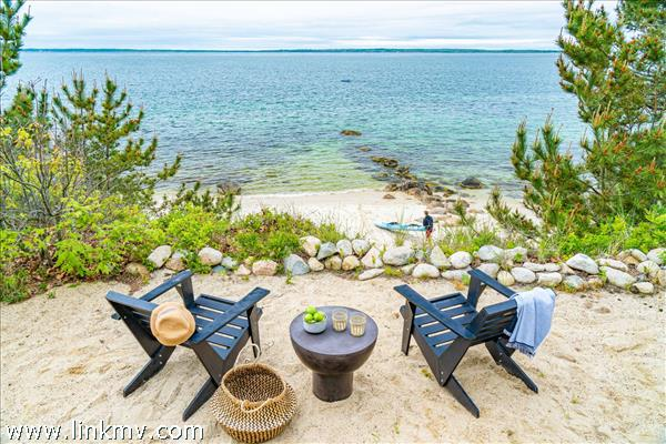 Views of your private beach, Vineyard Sound, and the Elizabeth Islands from the overlook