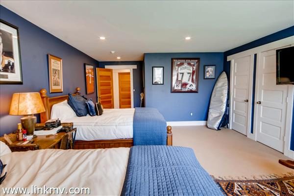 A large 3rd bedroom on the lower level