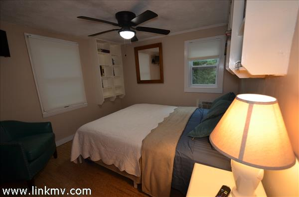 Bedroom 1 with ceiling fan