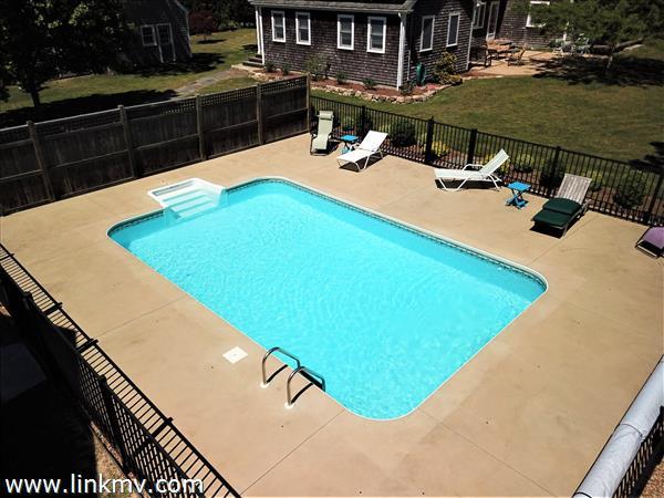 Pool is solar heated!