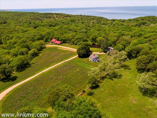 Cagney Farm Chilmark with acreage and water views