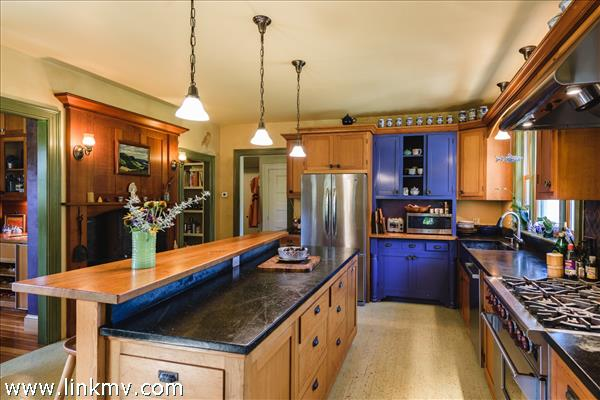 Ample counter space for food  preparation.