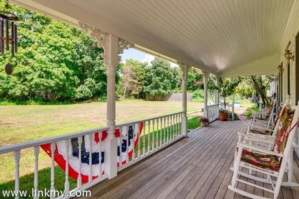 Traditional wrap around porch