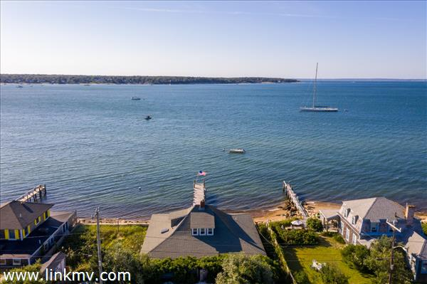 The home looks westerly over the harbor which provides astounding sunsets