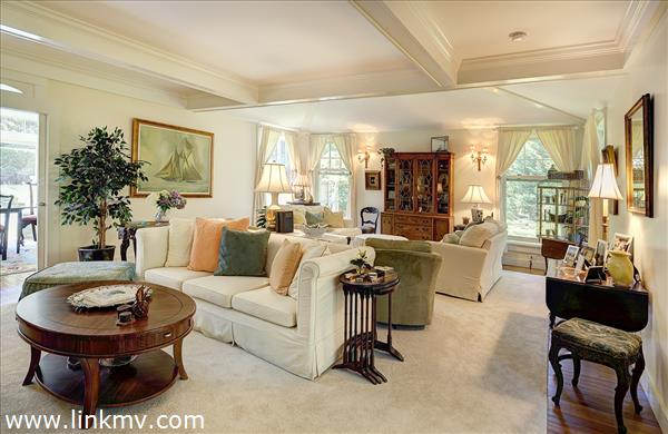Living room in newer section