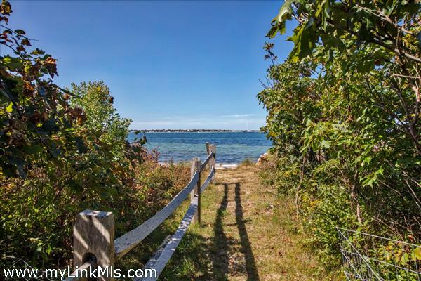 Shared private path to Edgartown Outer Harbor