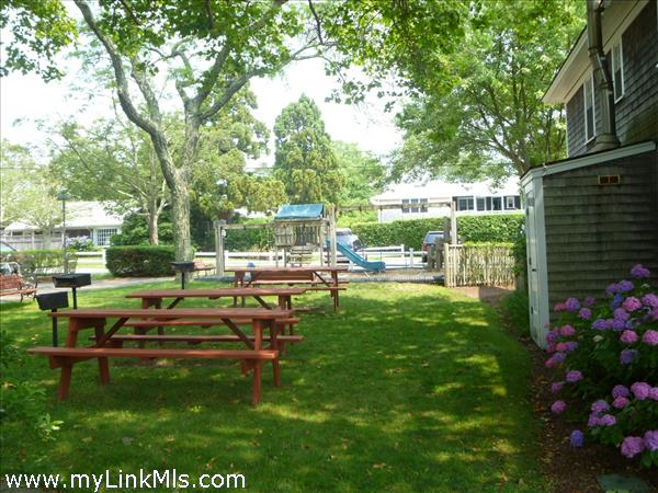 Picnic areas and grills.