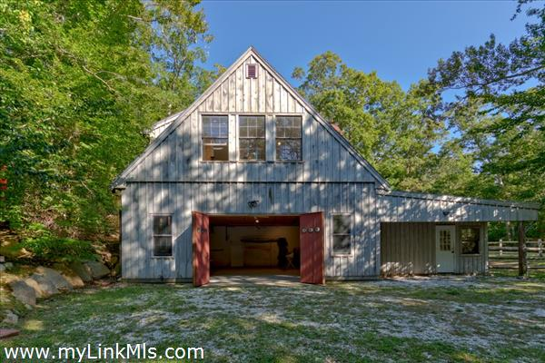 lower level of Barn shows wide access to bring in all your