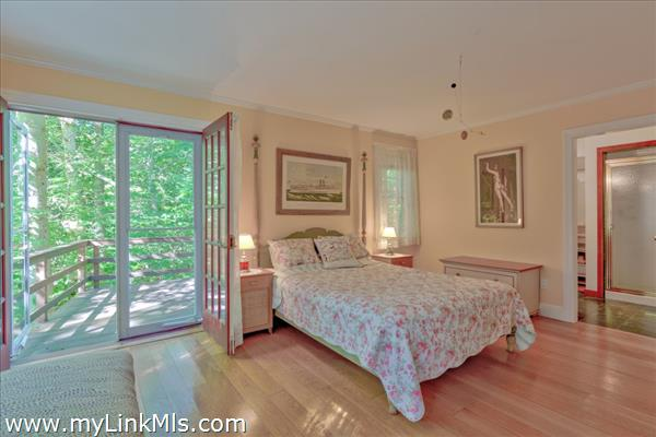 Master bedroom with access to large deck