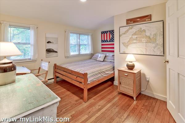 on the upper level is bedroom #2...note oak wood floors throughout