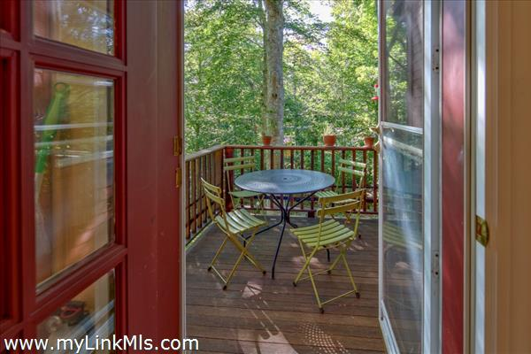 Dining deck off the kitchen