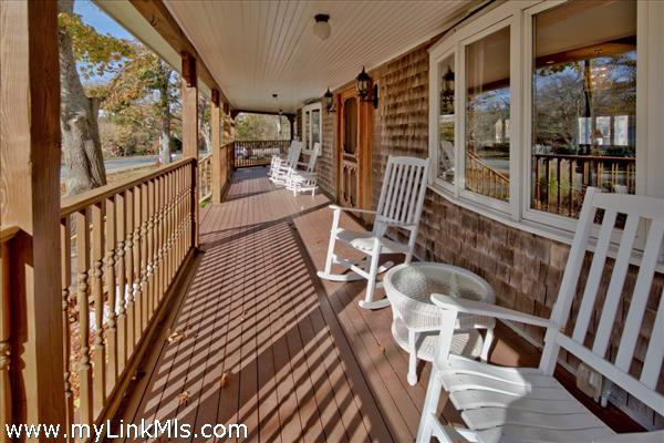 Relax on the spacious front porch