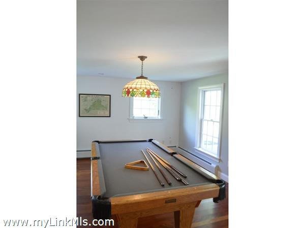 Pool table on first floor
