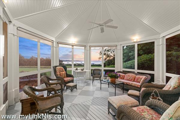 Sunsets on the screened porch