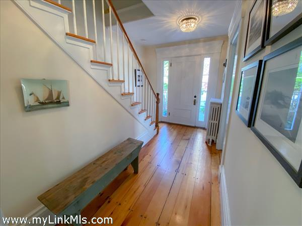 Original wide heart-pine floors.