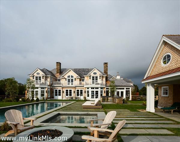 Backyard - Pool, Hot Tub, Outdoor Kitchen, Pool House, & Gardens