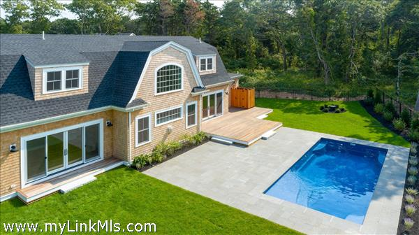Sample rear exterior with pool